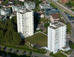 Die Zythus-Hochhäuser.